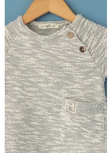 Cigit Cepli Melanjlı Sweatshirt Bej